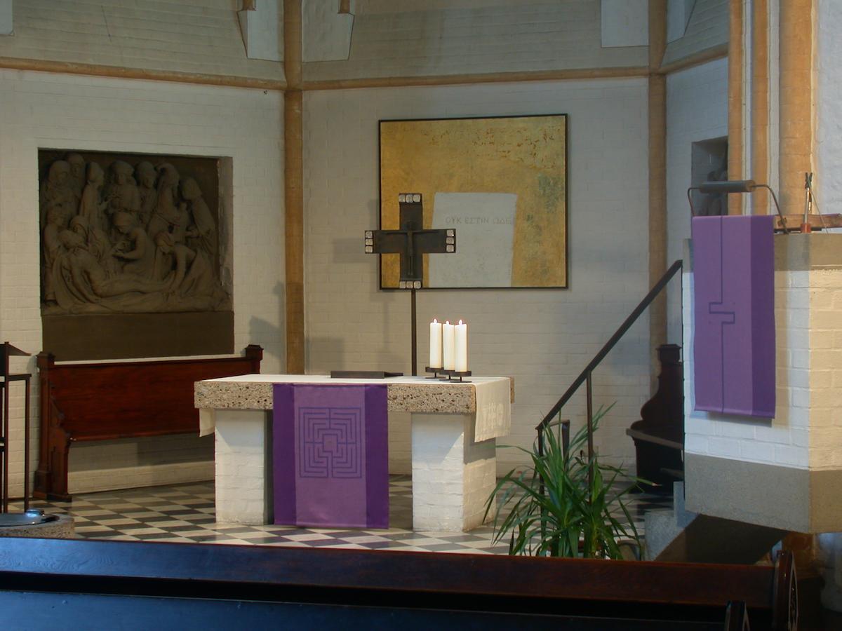 Altar und Kanzeltuch violett
