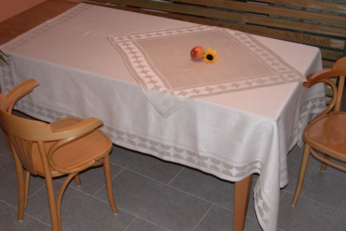 Tafeltuch und Mitteldecke Rauten