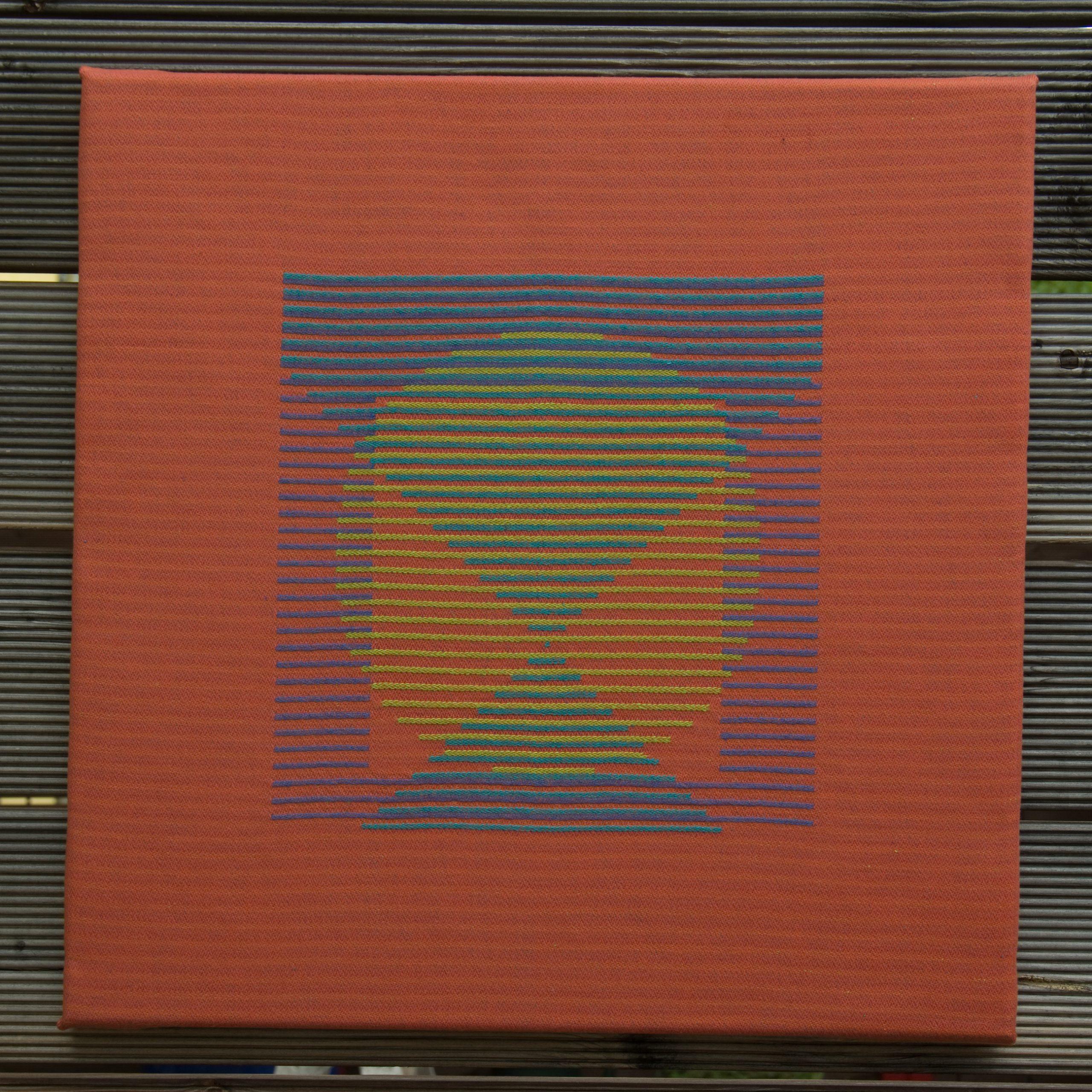 Textiles Bild – Dreieck, Quadrat, Kreis 2