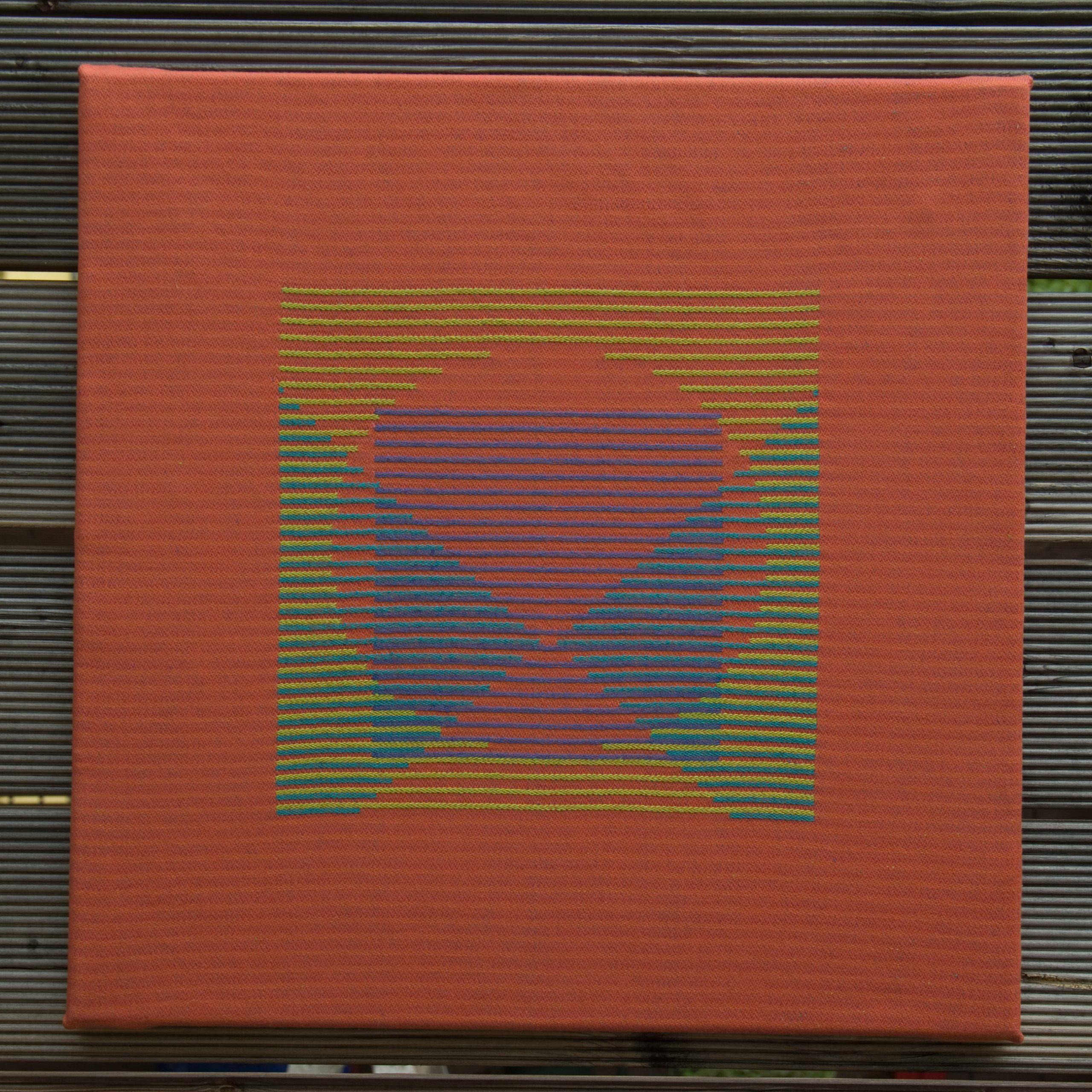 Textiles Bild – Dreieck, Quadrat, Kreis 3