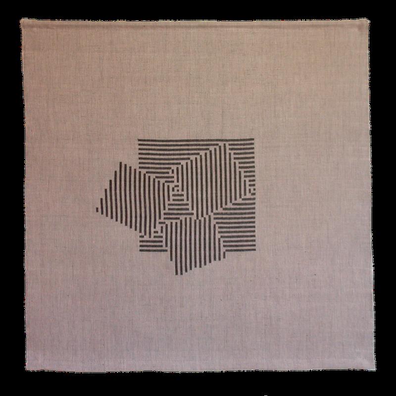 Textiles Bild – Bewegung im Quadrat