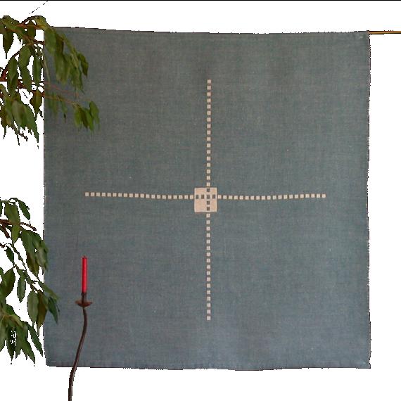 Textiles Bild – Kreuzung