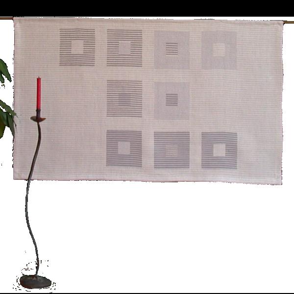 Textiles Bild – Studie Grau