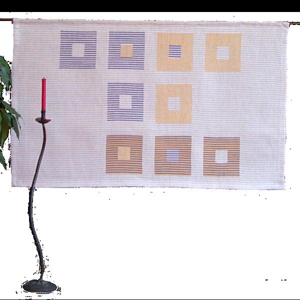 Textiles Bild – Studie Orange